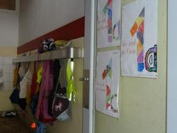 Vor der Klasse 1a